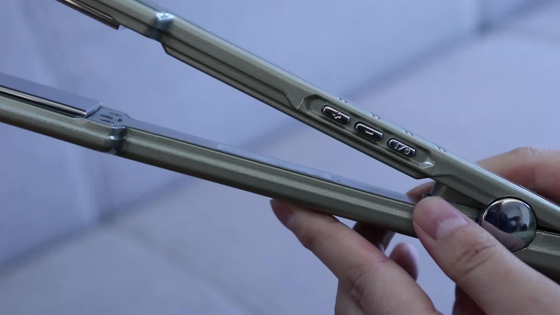 विरोधी स्थैतिक स्टेनलेस स्टील दर्पण प्लेट थोक उच्च बाल Straightener फ्लैट लोहे सैलून उपकरण घरेलू हेयर Straightener