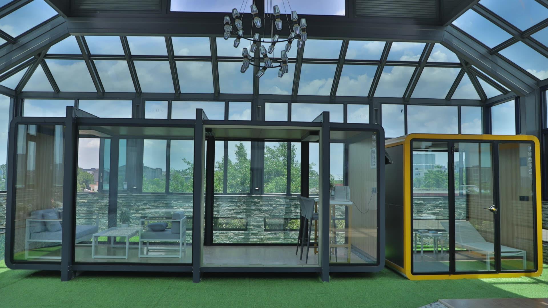 모바일 작은 집 컨테이너 조립식 도매 리조트 호텔 응접실 모듈 집