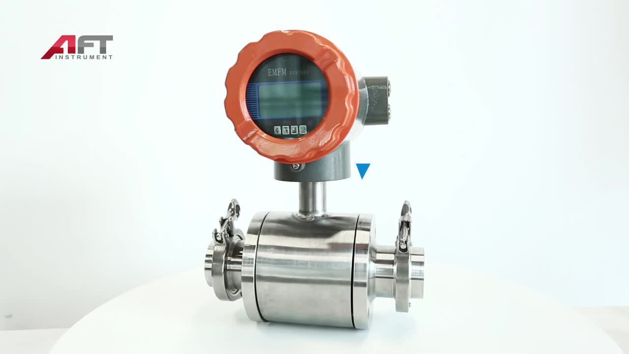 International standard sanitary type  integrated milk magnetic flow meter