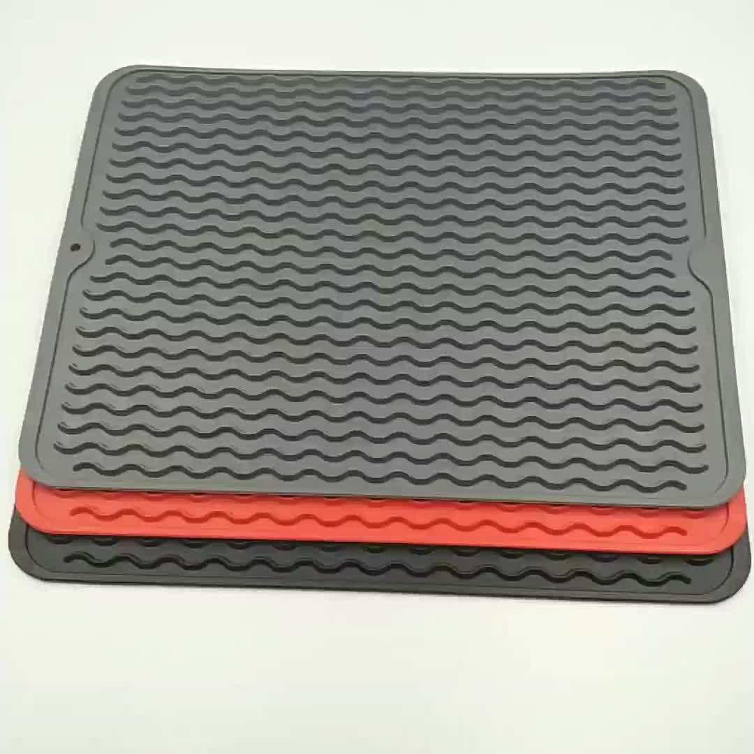 De grado de alimentos Extra silicona gran plato de secado de alfombra