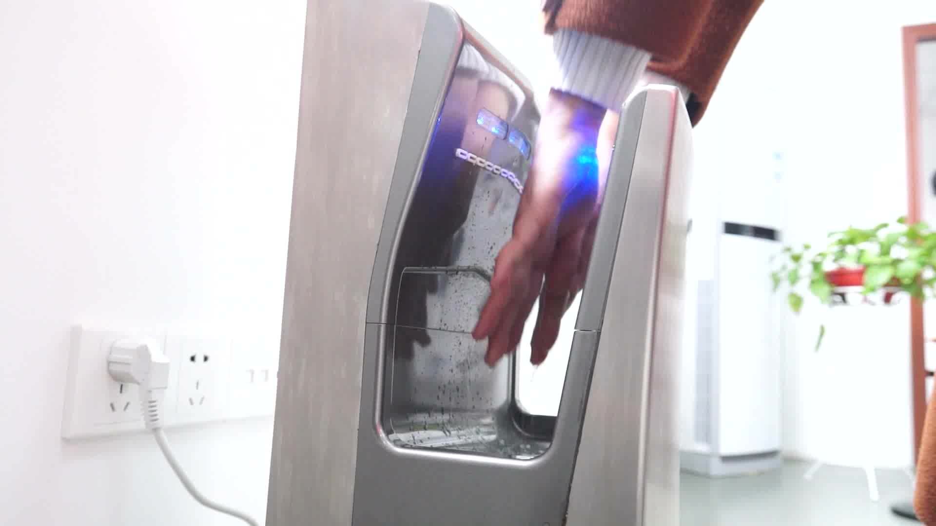 Public Toilet Battery Operated Jet Speed Air Injection Automatic Infrared Sensor Hand Dryer Supplier Manufacturer For Home