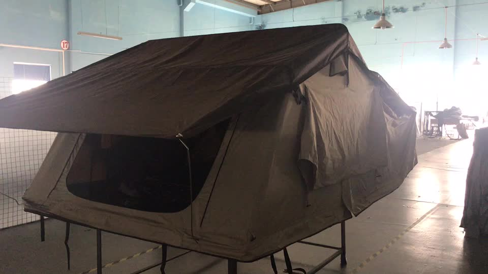 2.4x1.6M Easy set up 3 person family camping tent Truck Roof Top Tent