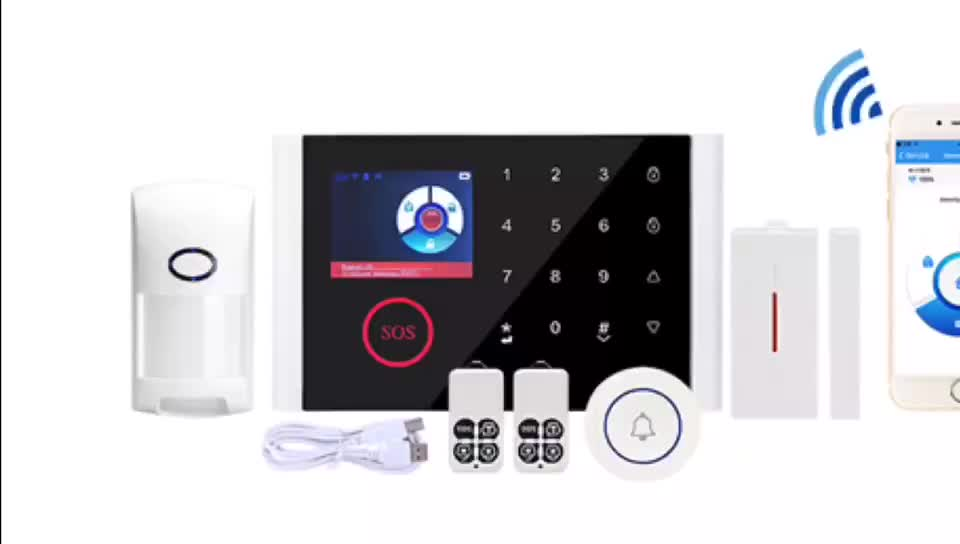 2019 hot sale door security GSM alarm system instruction in the russian