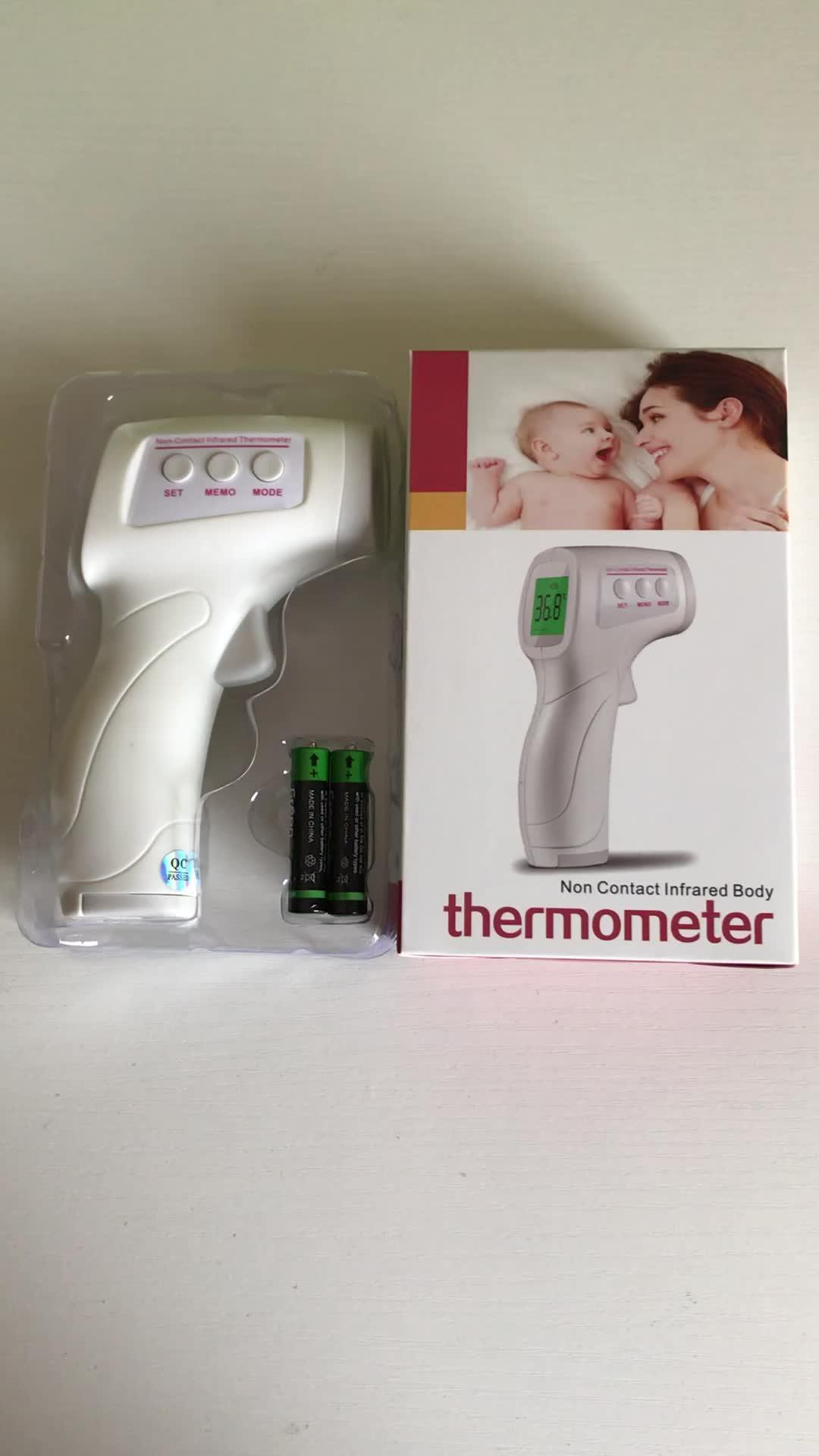 2019 moins cher plus récent 3 couleurs rétro-éclairé bébé enfant bébé corps surface électronique sans contact front thermomètre infrarouge numérique