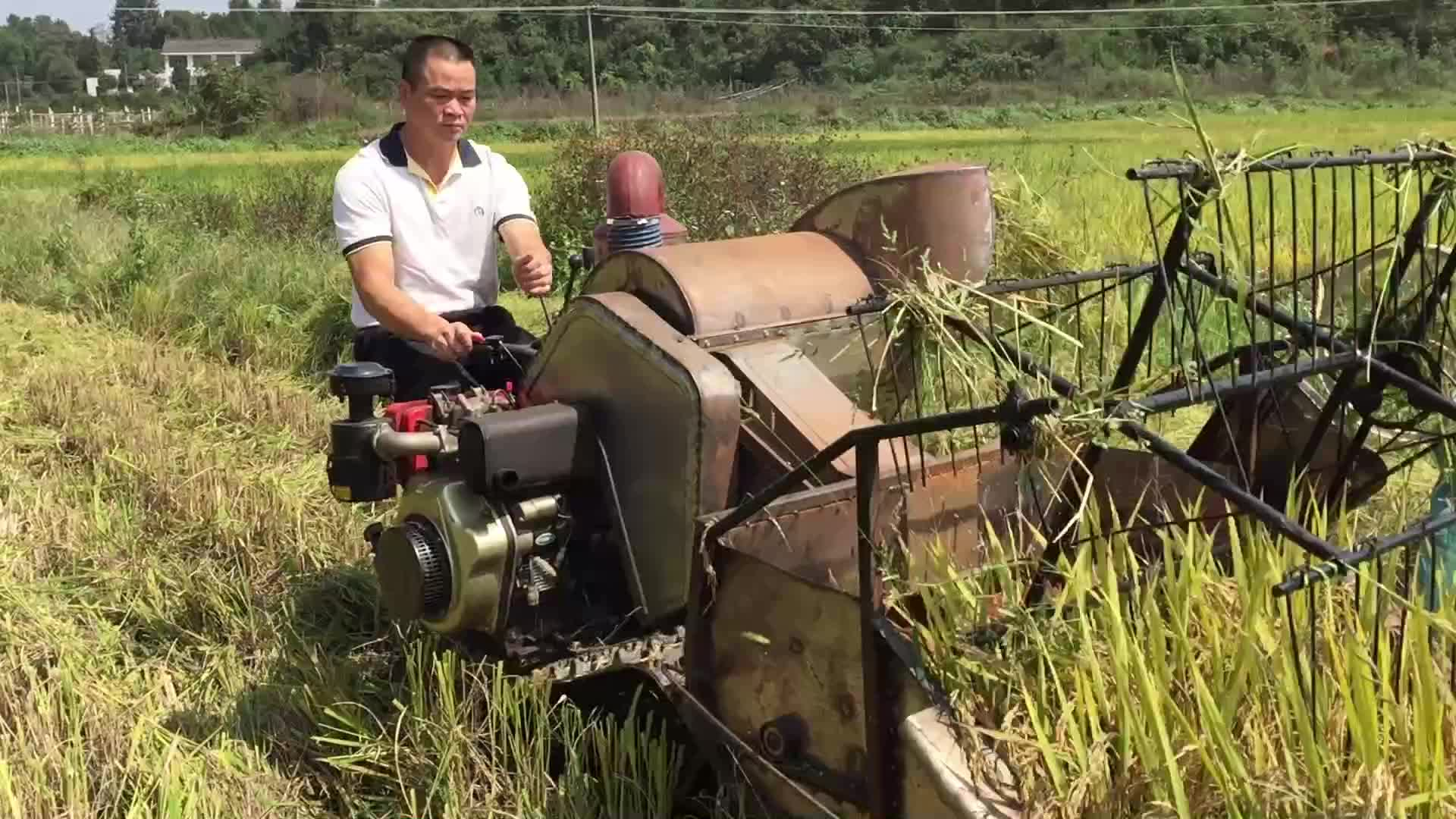 Tractor Mounted New Philippines Small Mini Wheat Kubota Paddy Rice Combine Harvester Price Used In India West Bengal For Sale