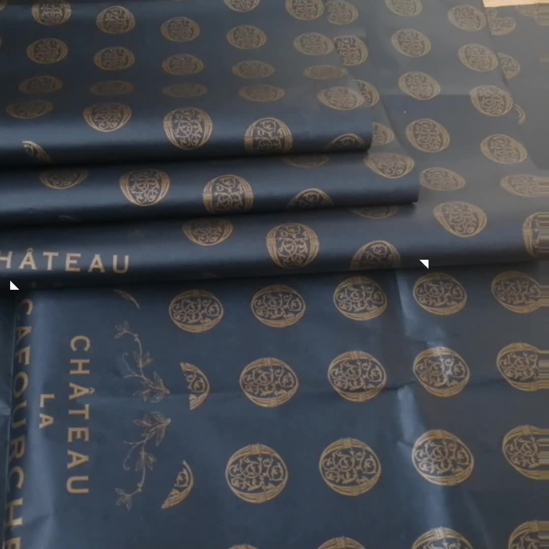 ZPT014-EB Luxus logo bedruckte seidenpapier/seide papier