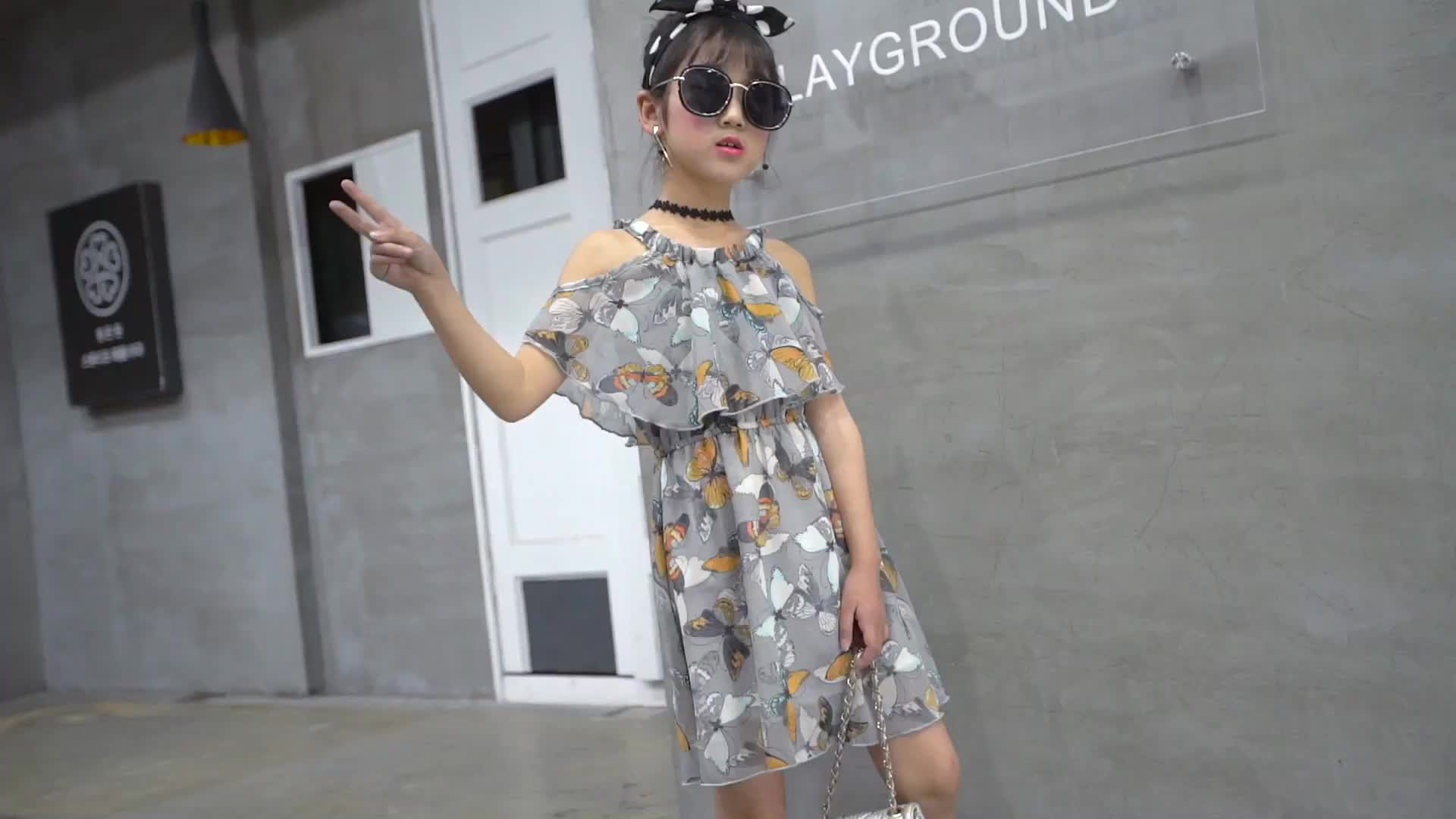 2018 girl party wear modern girls dresses for girls of 10 years old