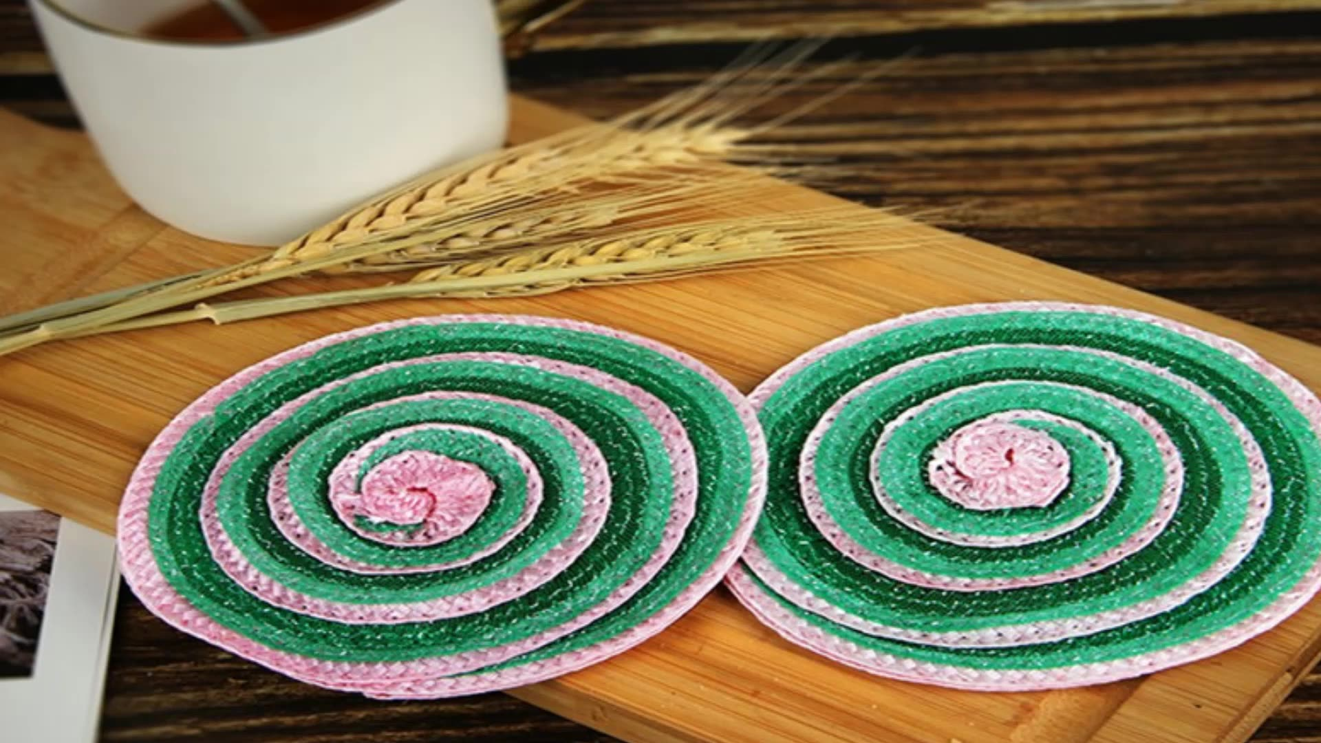 Waterproof drink coaster set Xmas holiday placemats for kitchen home decoration