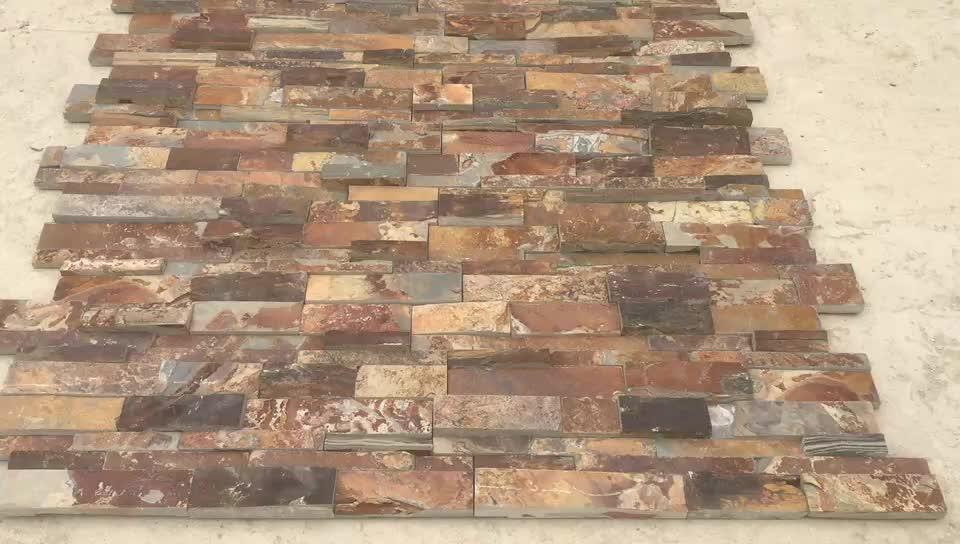 Tự nhiên Gỉ văn hóa đá/Nhiều Màu đá tường ốp