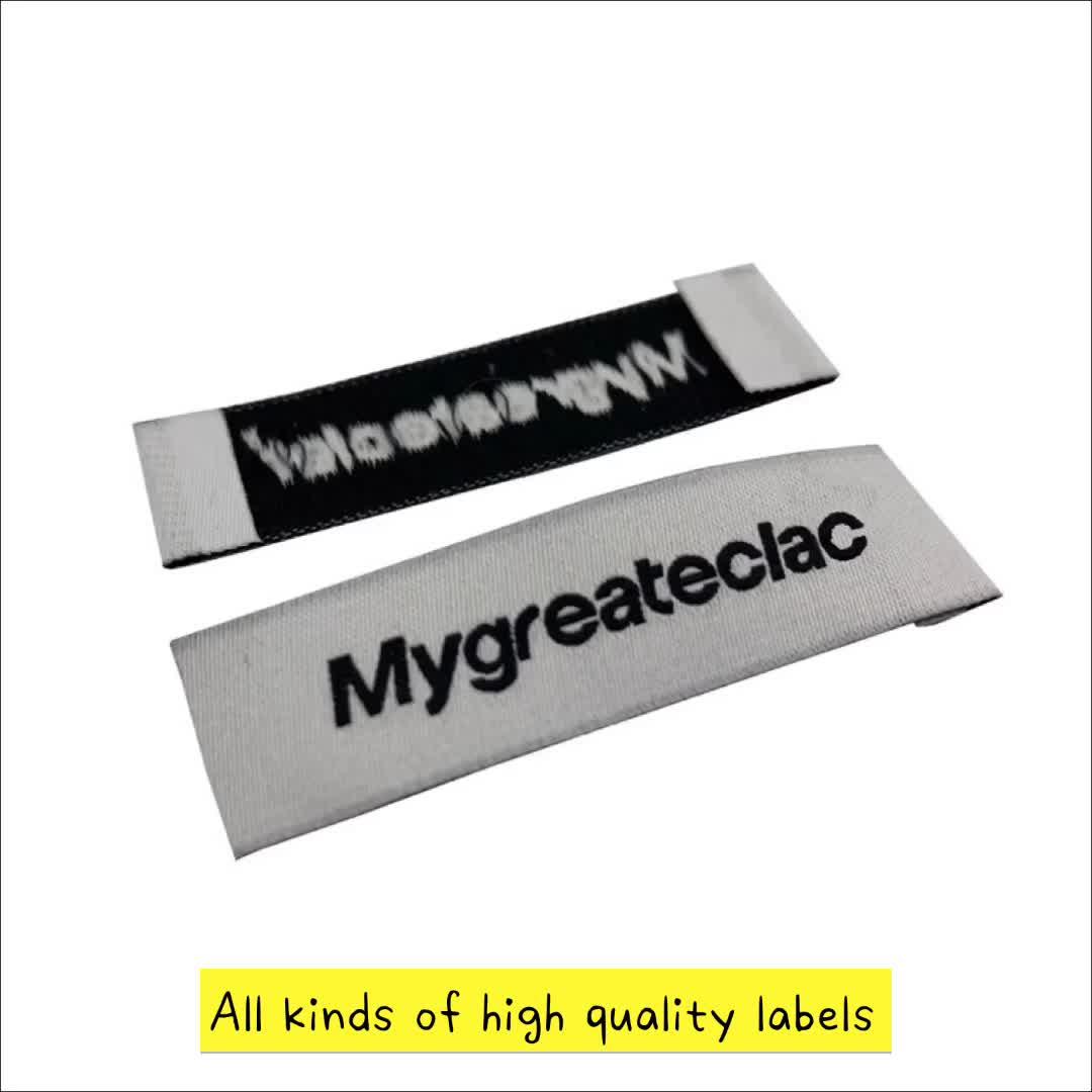 ความปลอดภัย Holographic เย็บ Tags ป้ายผ้าฝ้ายป้ายทอ