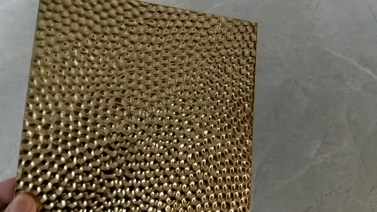 ZB2802 Reasonable Price  Gold Stamping Decorative 3d Stainless Steel Metal Sheet