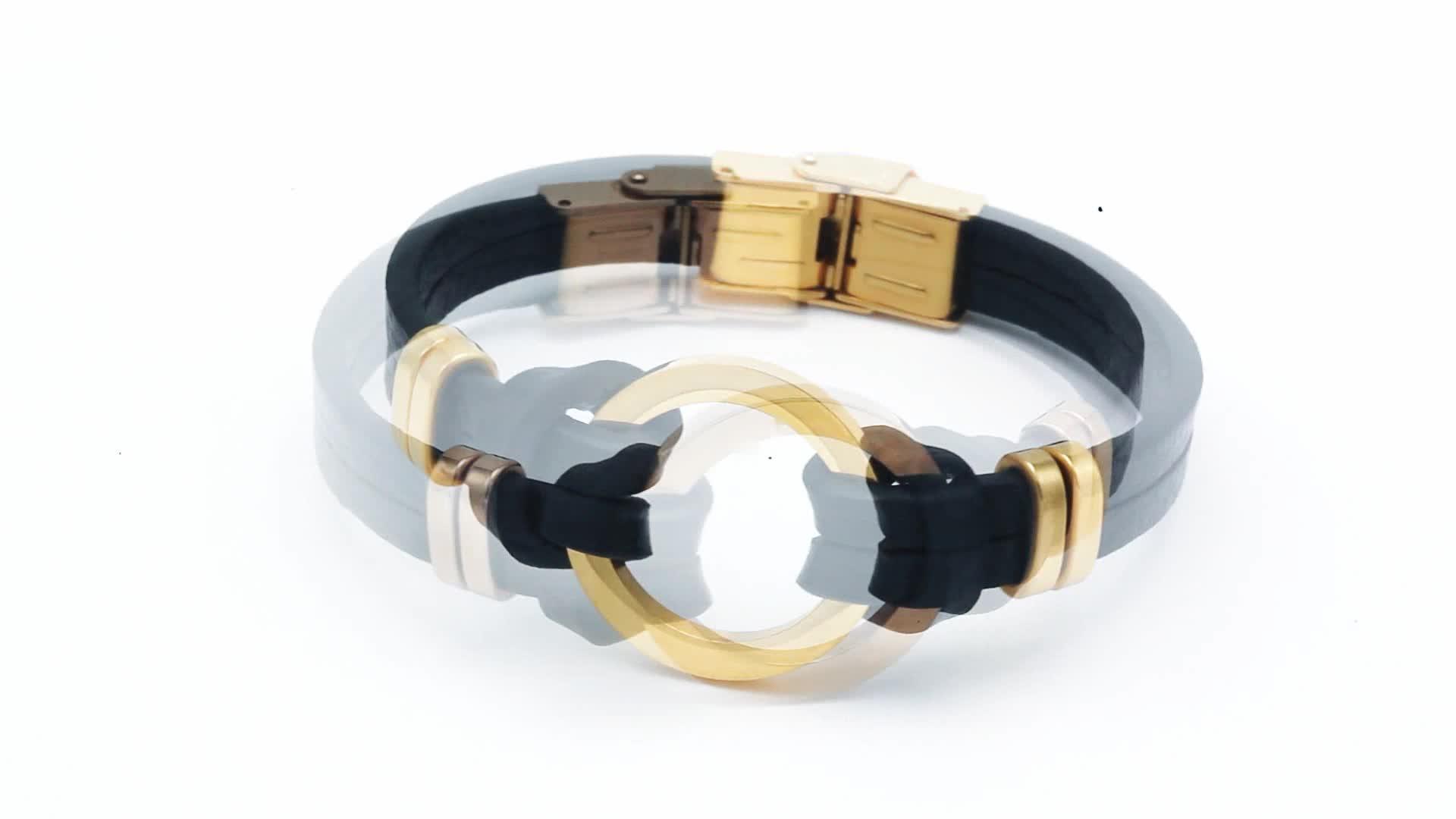 Индивидуальный логотип, модные ювелирные изделия, браслет из нержавеющей стали, магнитный браслет, мужской кожаный браслет ручной работы