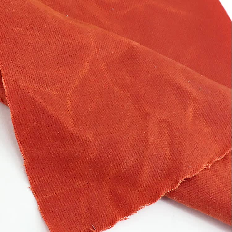 China waxed canvas supplier stock of cotton waxed bag fabric waterproof