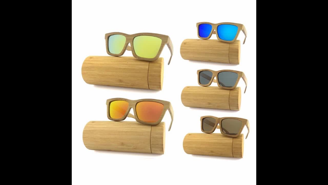 High Quality FDA Wholesale Mirror Lens China Wood Bamboo Sunglasses Custom Logo Cat.3 Polarized 2019 Wooden Sunglasses