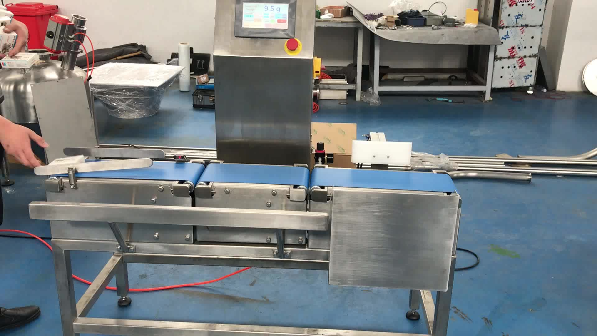 Automatic high efficiency cheap food industrial belt conveyor checking weigher