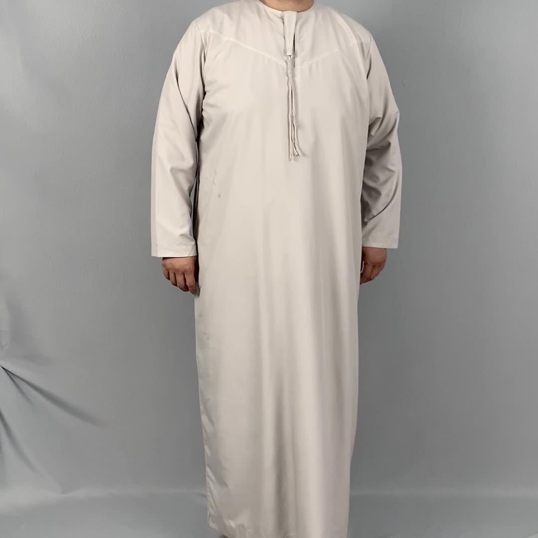 2020 New Arabo Jubba Disegni per Gli Uomini Ragazzi Thobe UAE Dubai Musulmano Abbigliamento Daffah