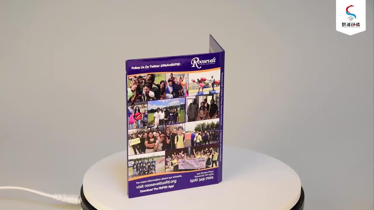 Melhor venda de produtos lcd monitor com cartão sd 7 polegada vídeo brochura para tela de exibição toque