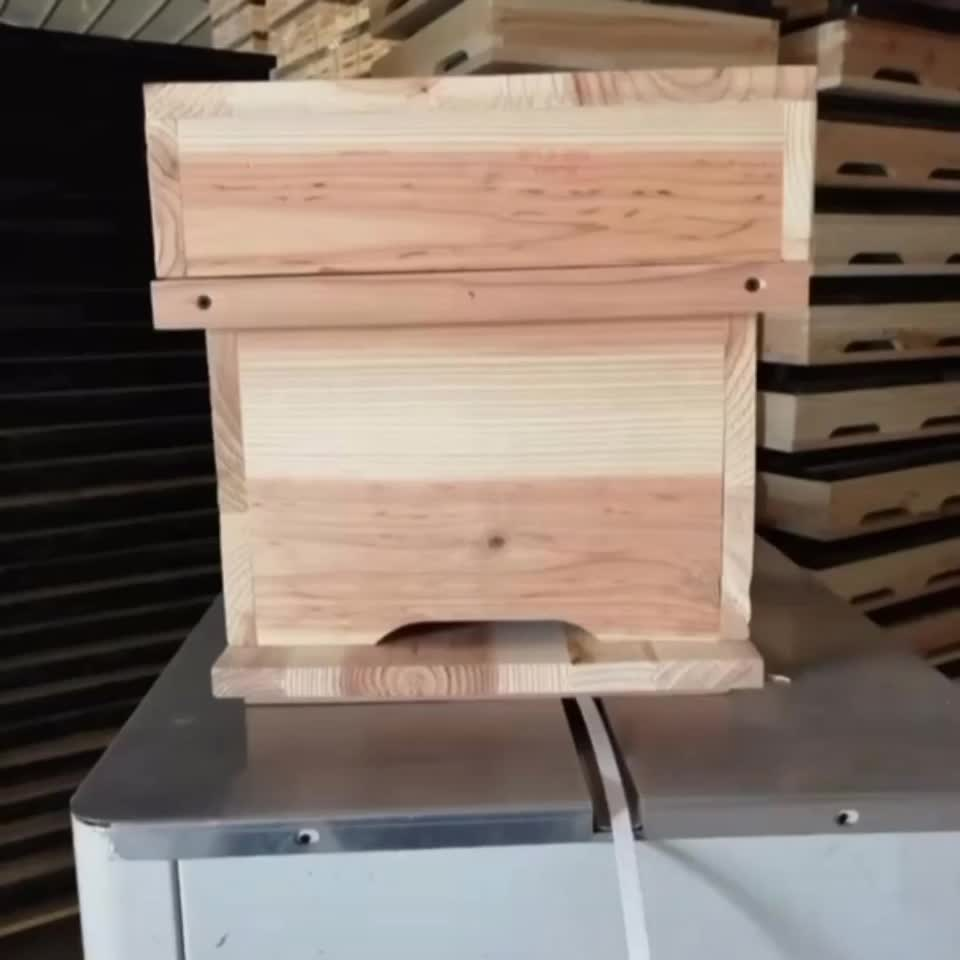 2020 Factory directly 2 to 7 layers OEM pine red cedar wooden bee hive box langstroth beehive