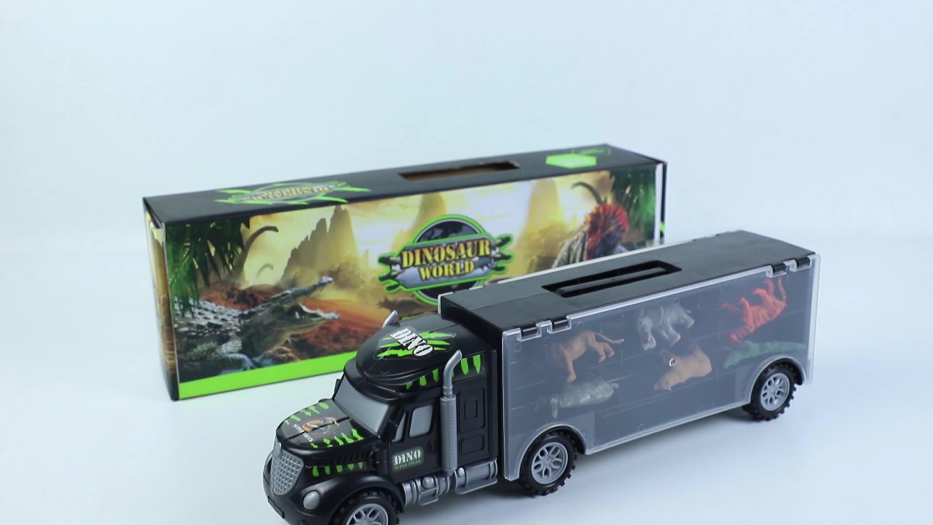 Dinossauro GRANDE DESCONTO Carro Brinquedos-Brinquedos Caminhão com Animais Conjunto De Armazenamento Veículo Brinquedos Educativos Juguetes educativos para Crianças Meninos