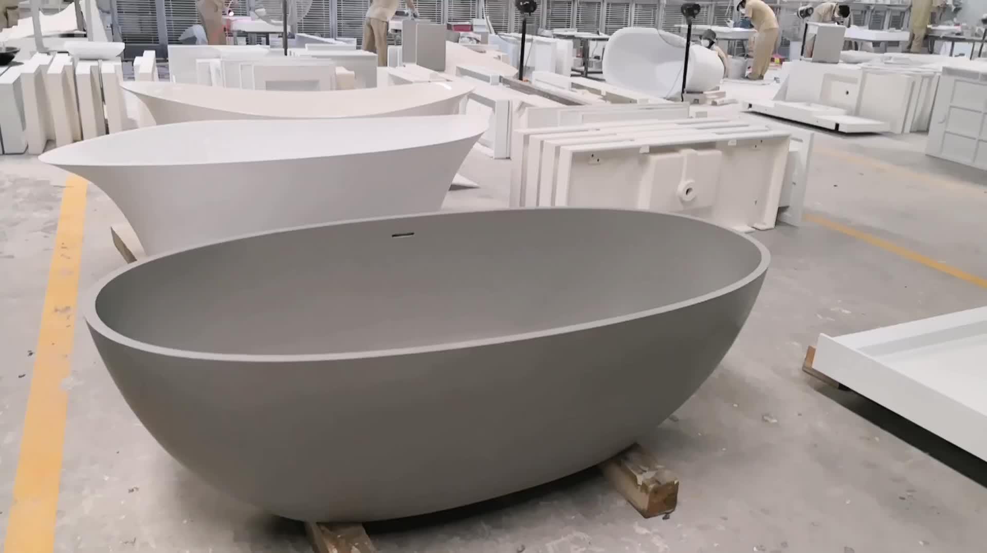 Brand New Black Bathtub Freestanding Oval Stand Alone Acrylic Bath ...