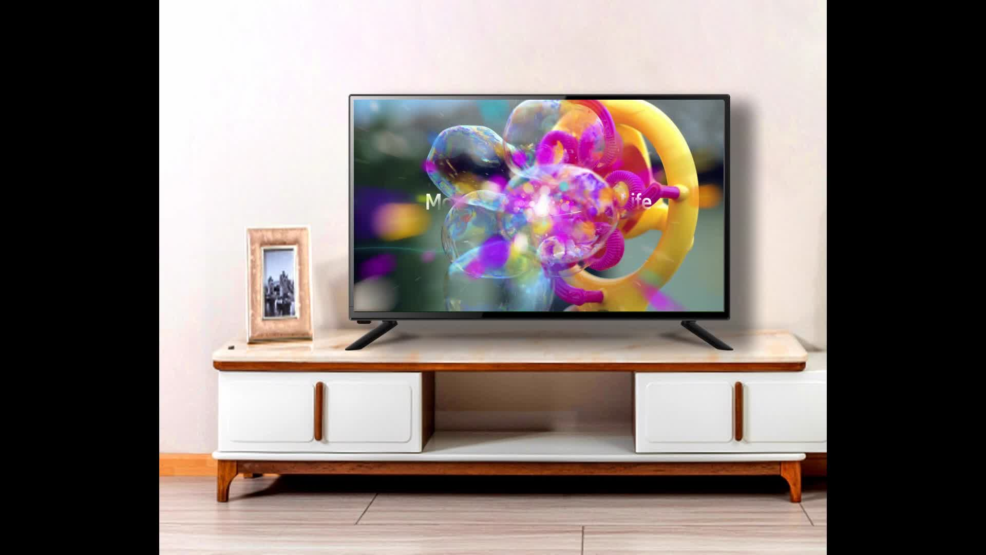 Haina china atacado preço baixo 32 40 43 55 polegadas tv 4k aparelhos de televisão