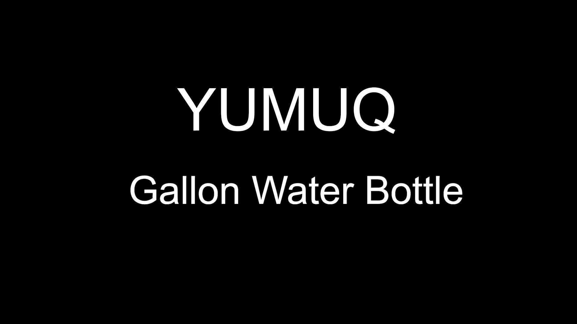YumuQ BPA Kostenlos Halb/1/Ein Gallonen Doppelwandige Vakuum Isolierte Edelstahl Gym Sport Reise Wasser Flasche /krug