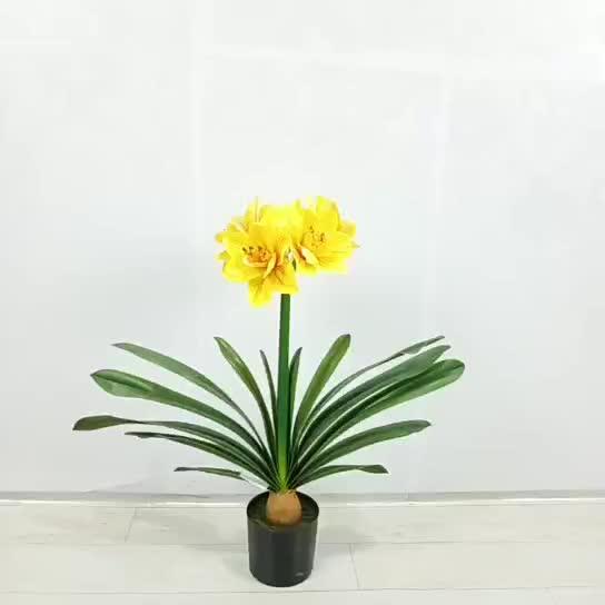 High quality  decorative simulation  plastic  artificial bonsai clivia flower
