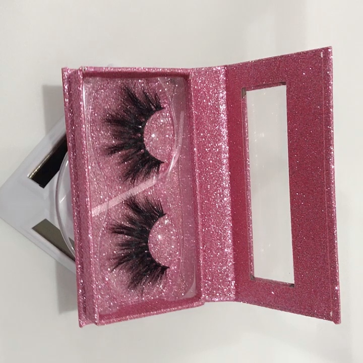 Free sample 25mm 5D 100% real mink strip eyelashes private label 25mm fluffy mink lashes eyelash vendor custom packaging 01