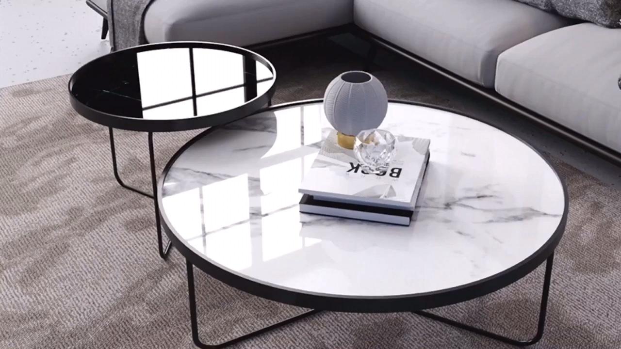 SWT Handgemachte Nordic Massivholz Glas Rattan Seite Tabelle Center Kaffee Tisch