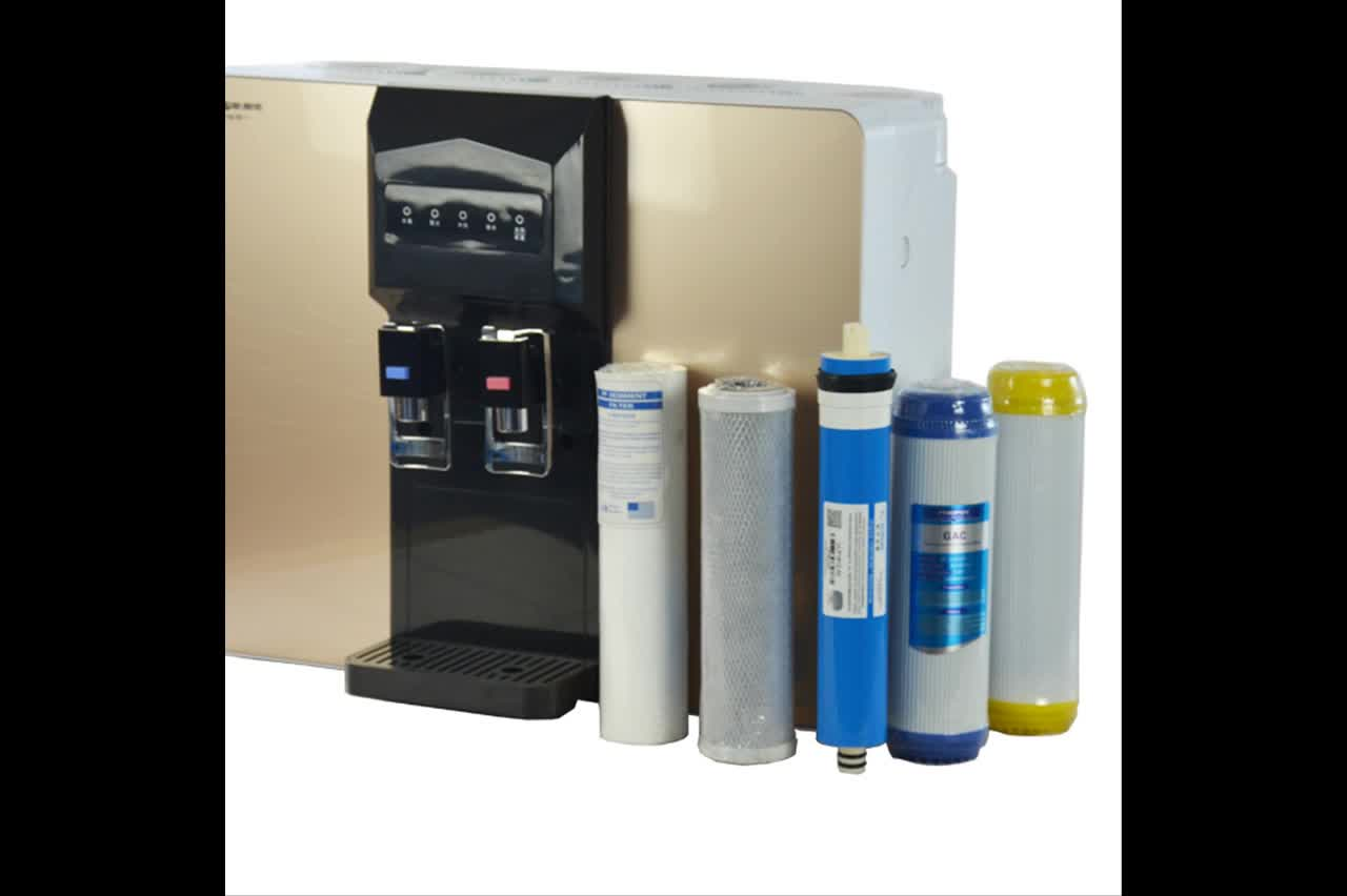Countertop Self Cleaning Bottleless Instant Hot & Cold Reverse Osmosis RO Water Cooler Purifier Water Dispenser Filter