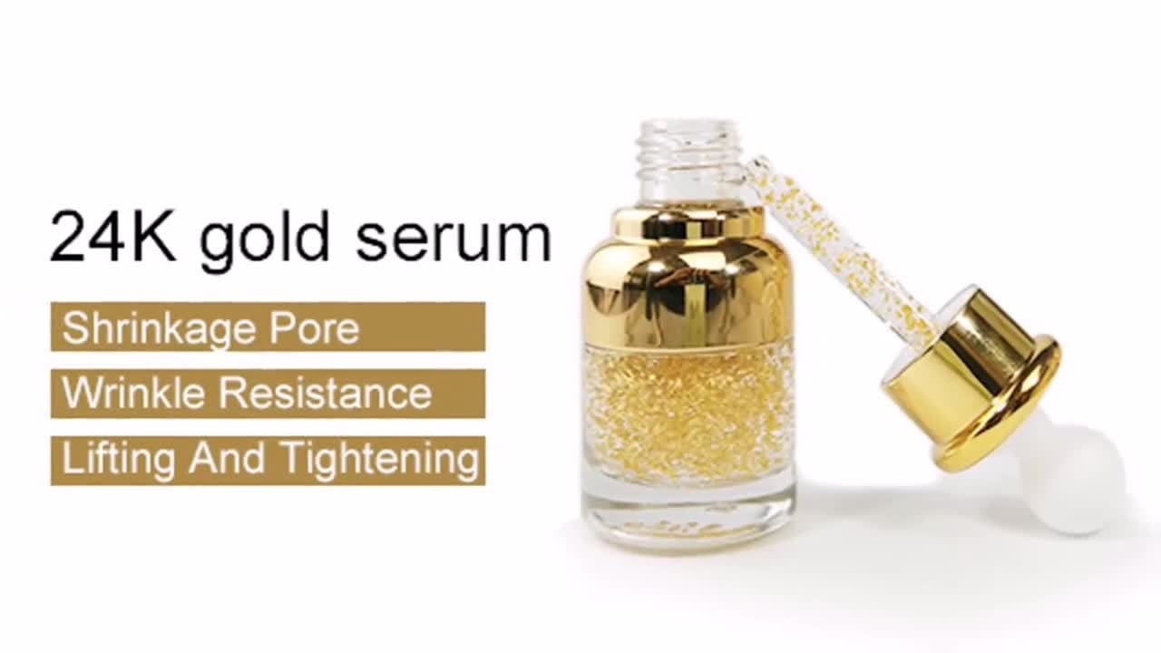 Moisturizing and Restoring the skin's youthful Complextion taiwan high quality gold serum 24k