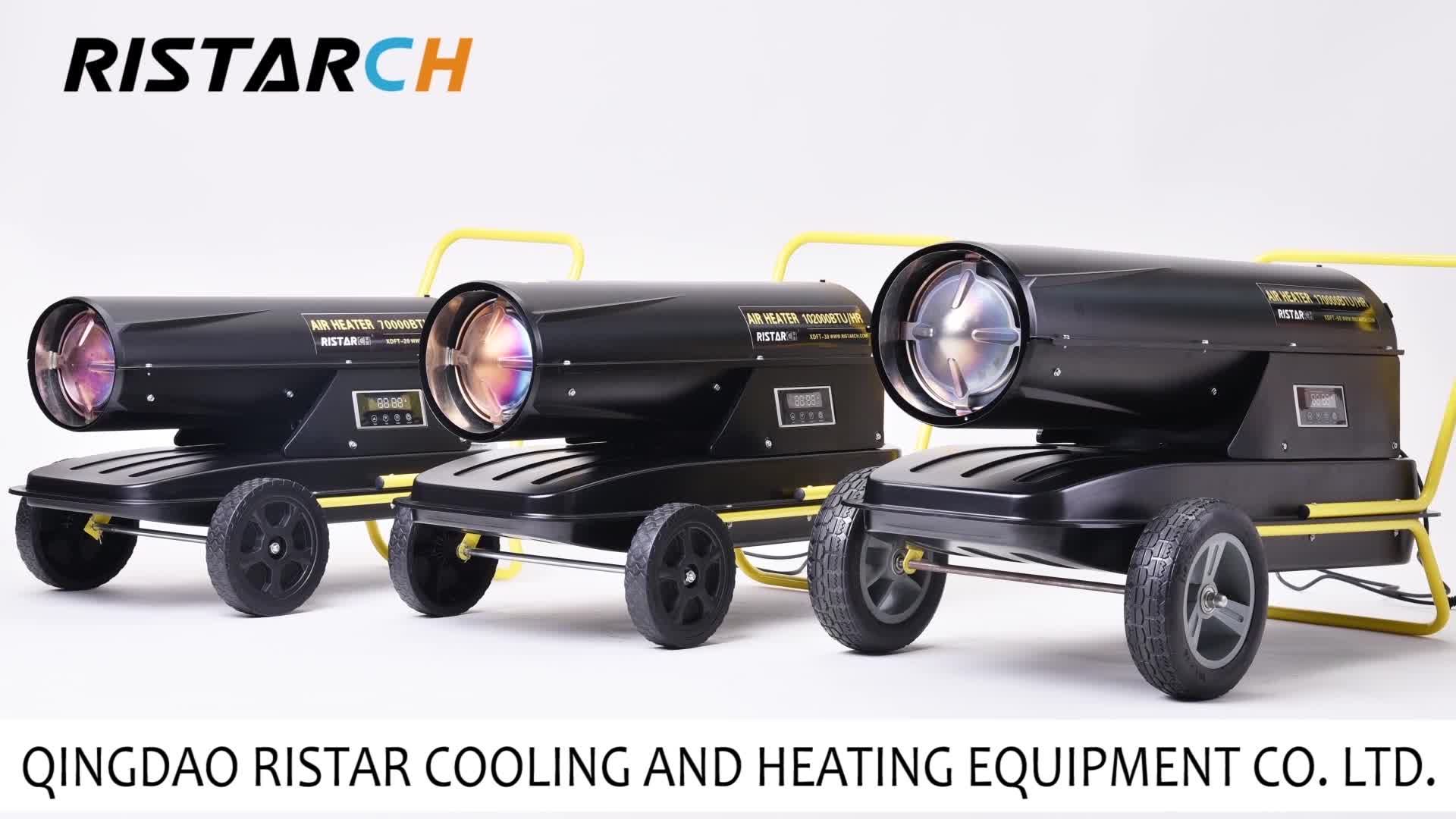 औद्योगिक अप्रत्यक्ष प्रत्यक्ष बाहरी थर्मोस्टेट केरोसिन डीजल मजबूर हवा अंतरिक्ष हीटर ईंधन एयर हीटर