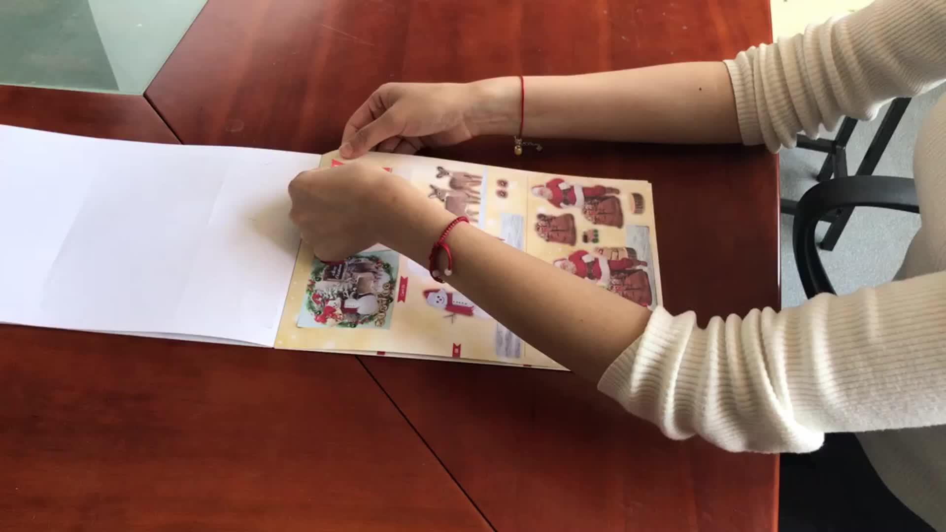 Livro DIY kits de scrapbook. A4 3D scrapbooking cortado para a criança diy, DIORAMA