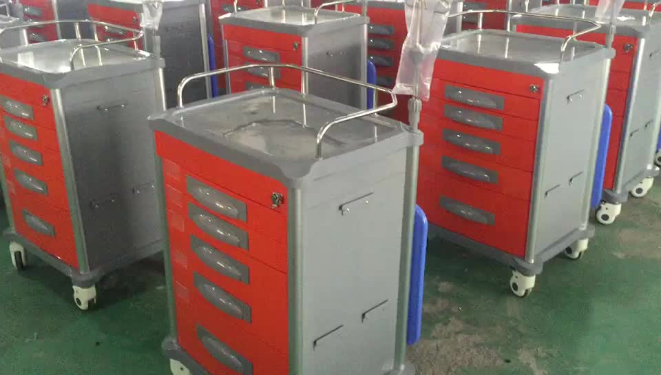 ABS hospital emergency trolley medical cart  equipment  emergency trolley medical equipment