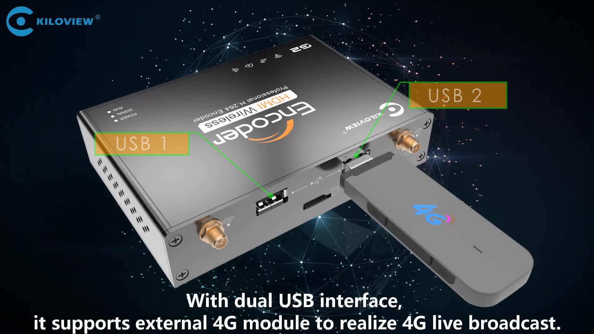 Kiloview h264 encoder audio hd hdmi per ip encoder