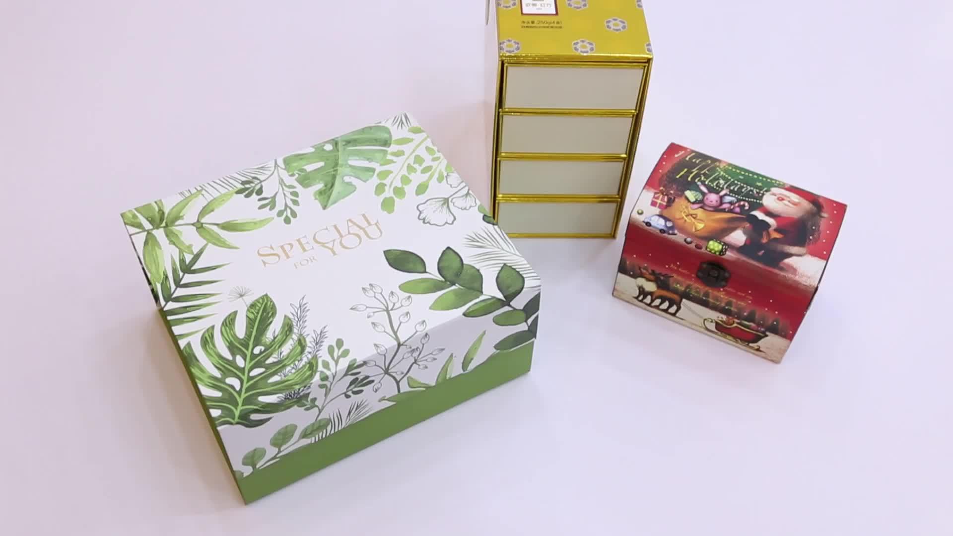Заказная картонная бумажная коробка Рождественский подарок упаковочная коробка для подарка