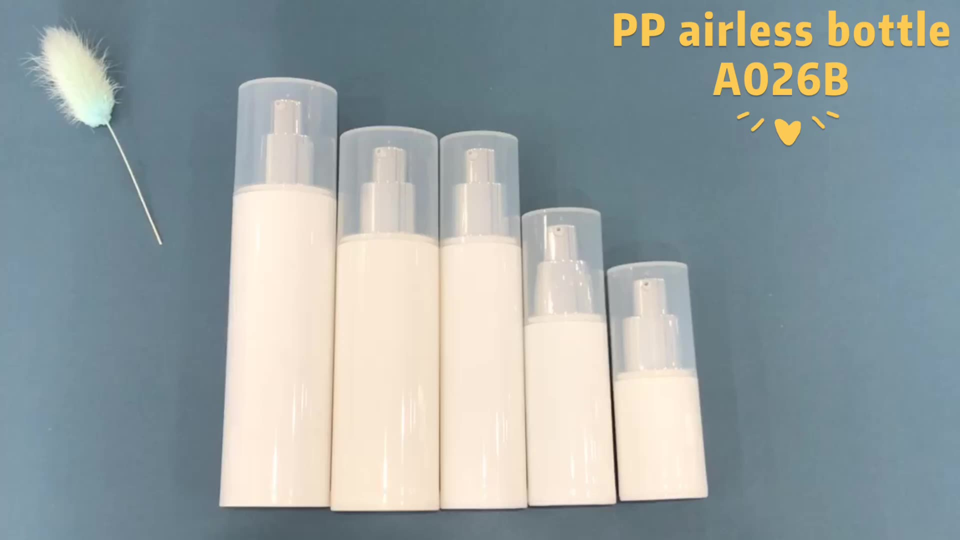 round shape PP material skin care lotion serum 15ml white airless pump bottle