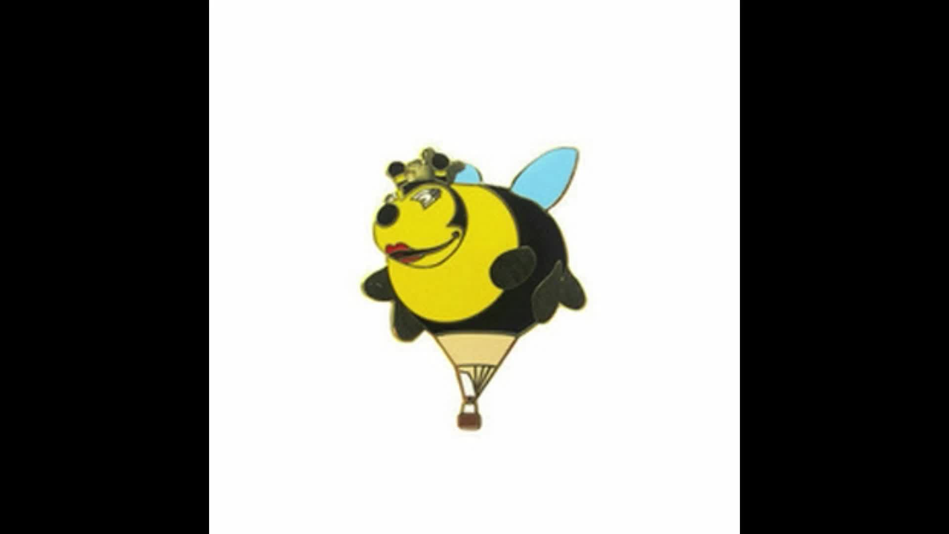 High Quality Custom Motorcycled Cartoon Bird Bee Animal Character Shaped Metal hard enamel lapel pins for suit