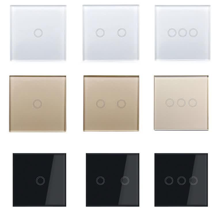 Alexa and Google home enabled US EU standard 1 gang wifi smart light switch for smart home