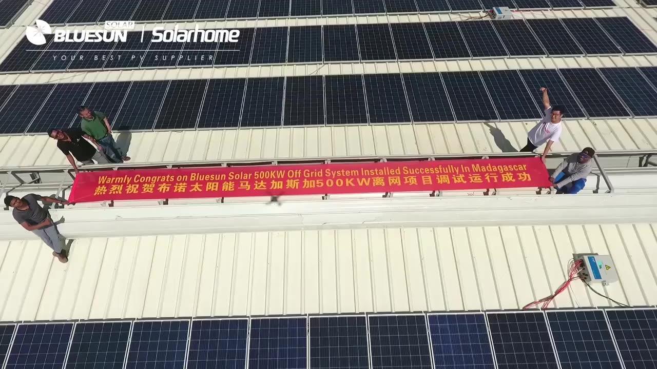 상업 가정용 그리드 20 KW 태양계 20KVA 태양 발전기 20KW 그리드 타이 태양계