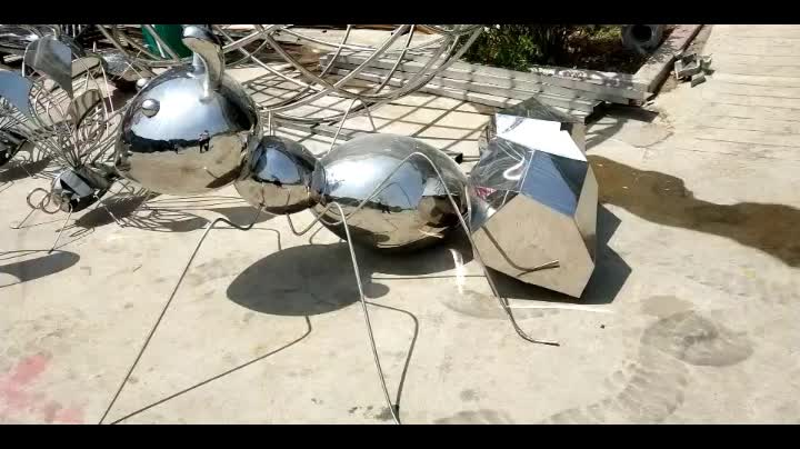 Outdoor Garden Ornament Products Stainless Steel Abstract Sculpture