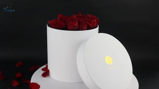 suppliers wholesale cardboard round flower box