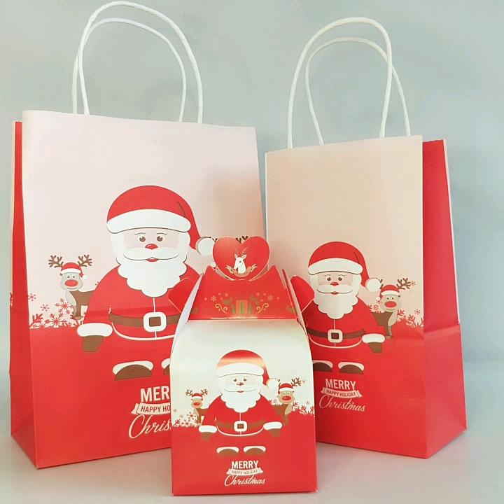 100% リサイクルクラフト紙製クリスマスボルサデ Papel クラフト