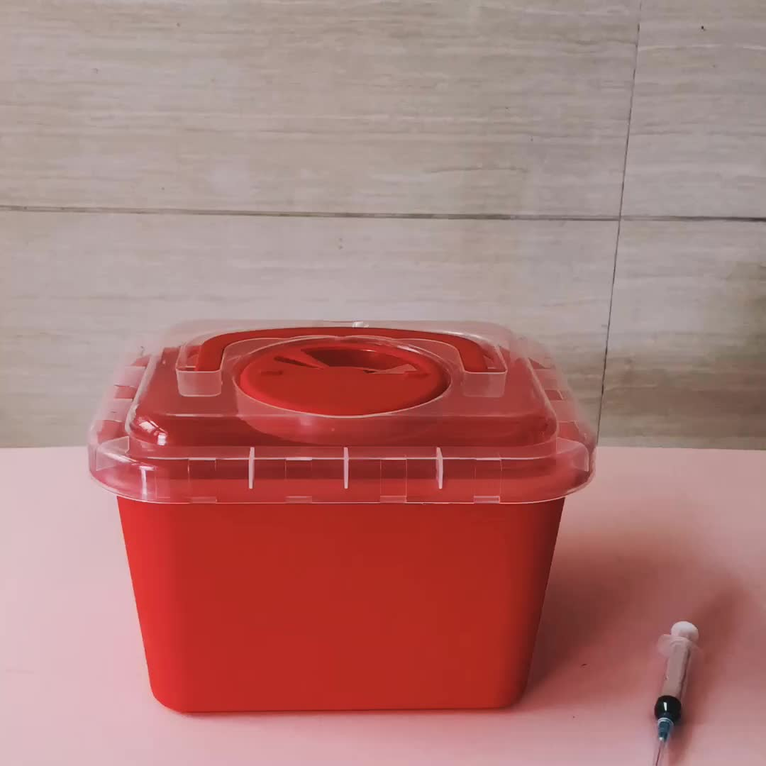 Plastic Medical Disposable Needle Bin Disposal Container