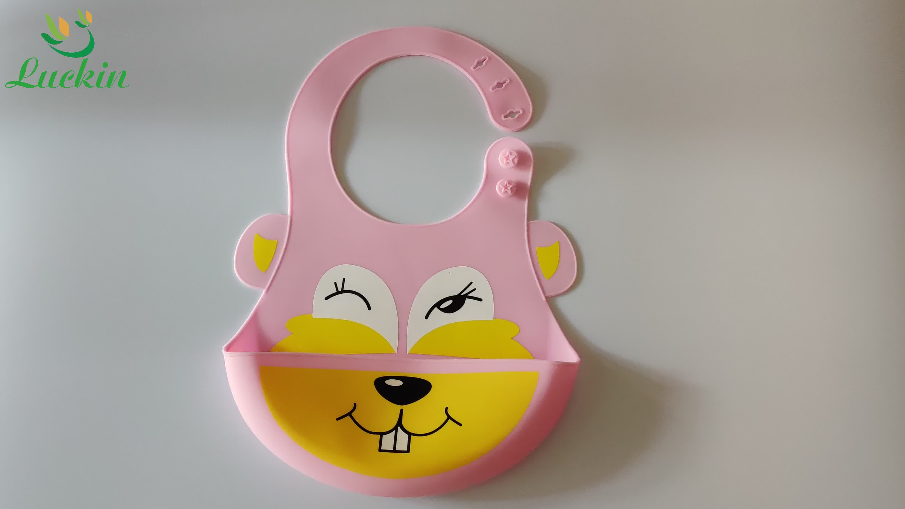 Factory Wholesale Waterproof Baby Bibs Comfortable Soft Custom Print Silicone Baby Bibs