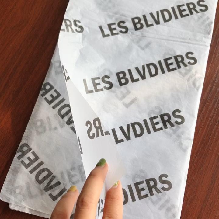 Eco Freundliche Glänzend Logo Gedruckt Schwarz Kundenspezifische Packpapier Rolle