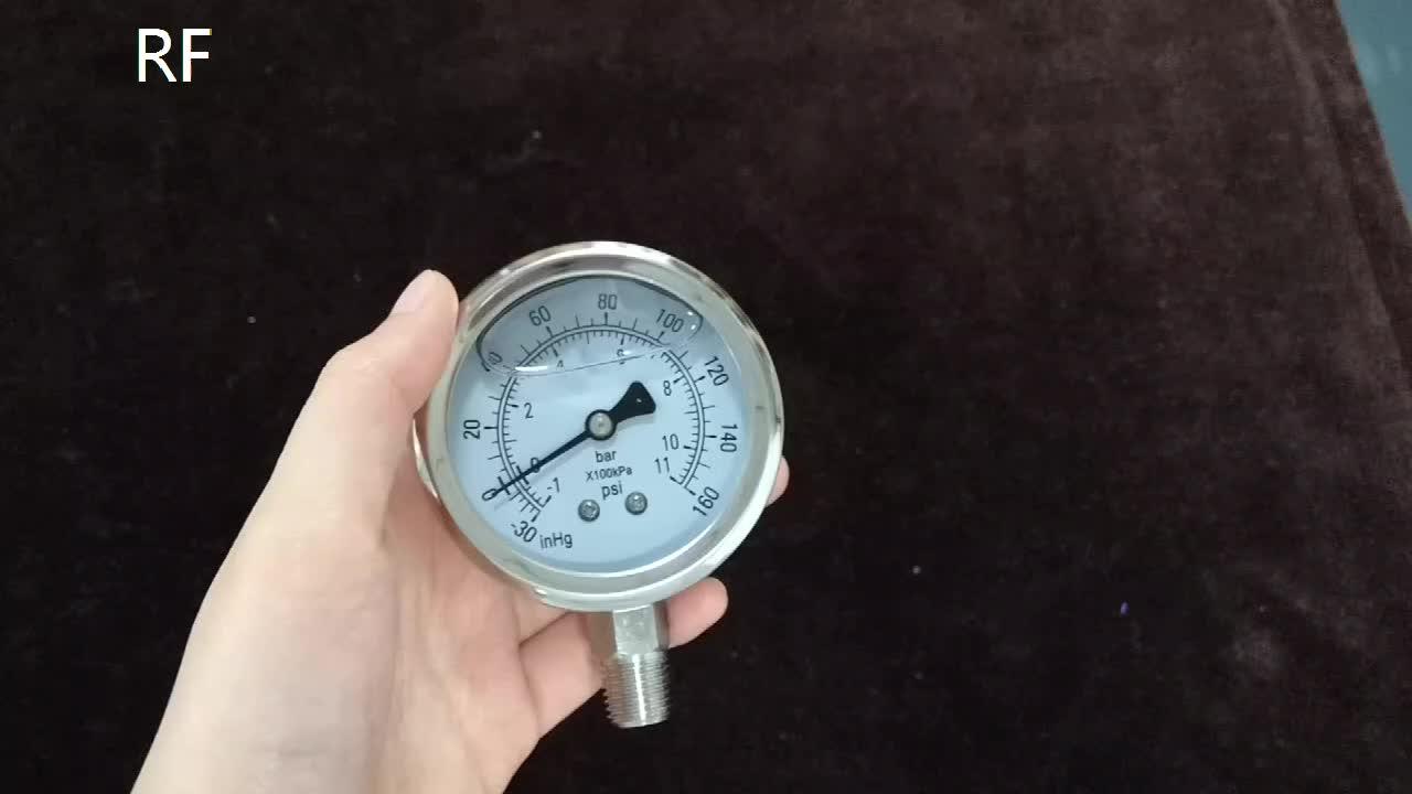 RF En Acier Inoxydable 1/4 tnp 160 psi Numérique Manomètres Remplis D'huile