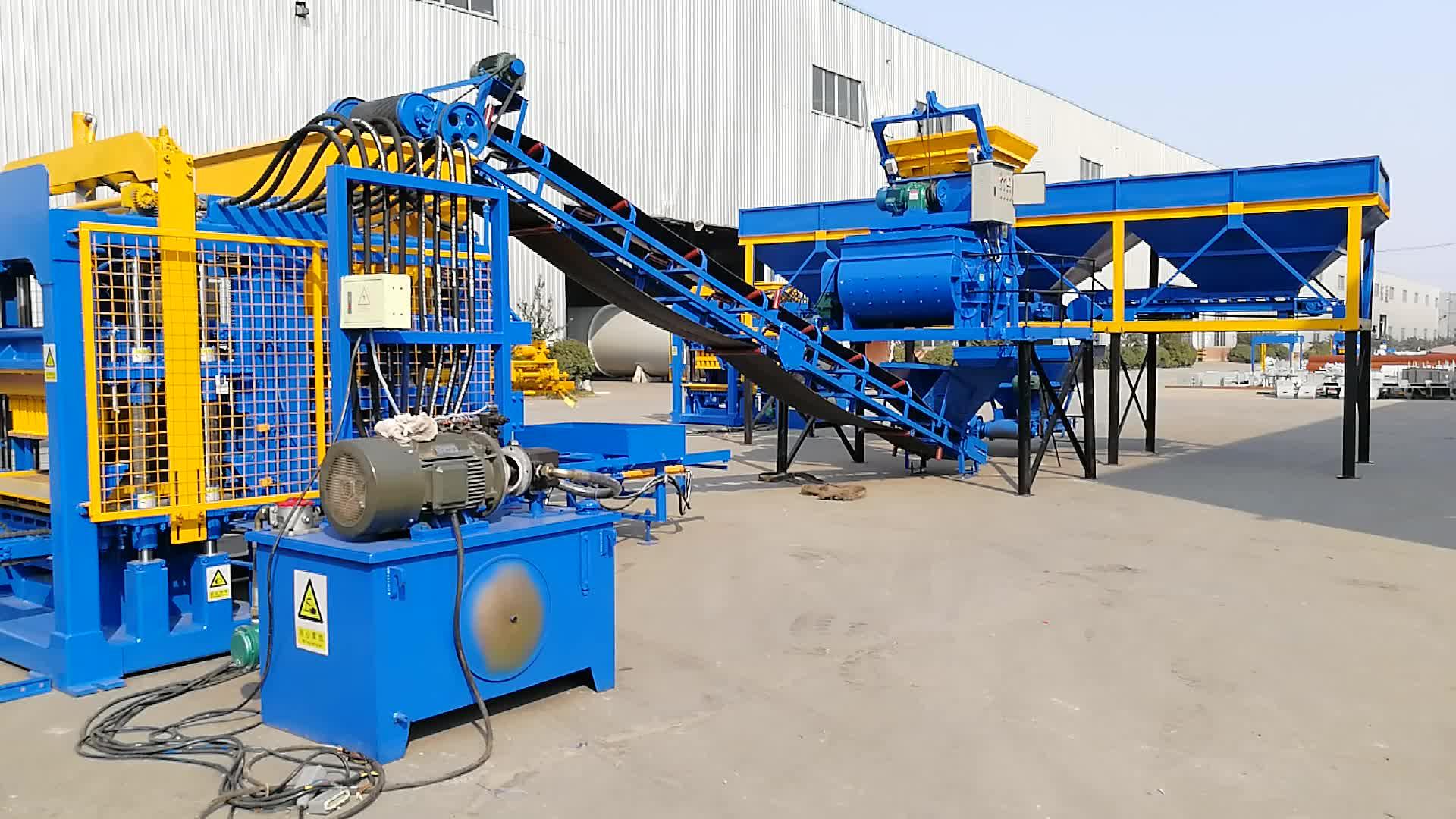 QT5-15 machine de fabrication de parpaing/machine a brique occasion/machine de moulage automatique de blocs de ciment