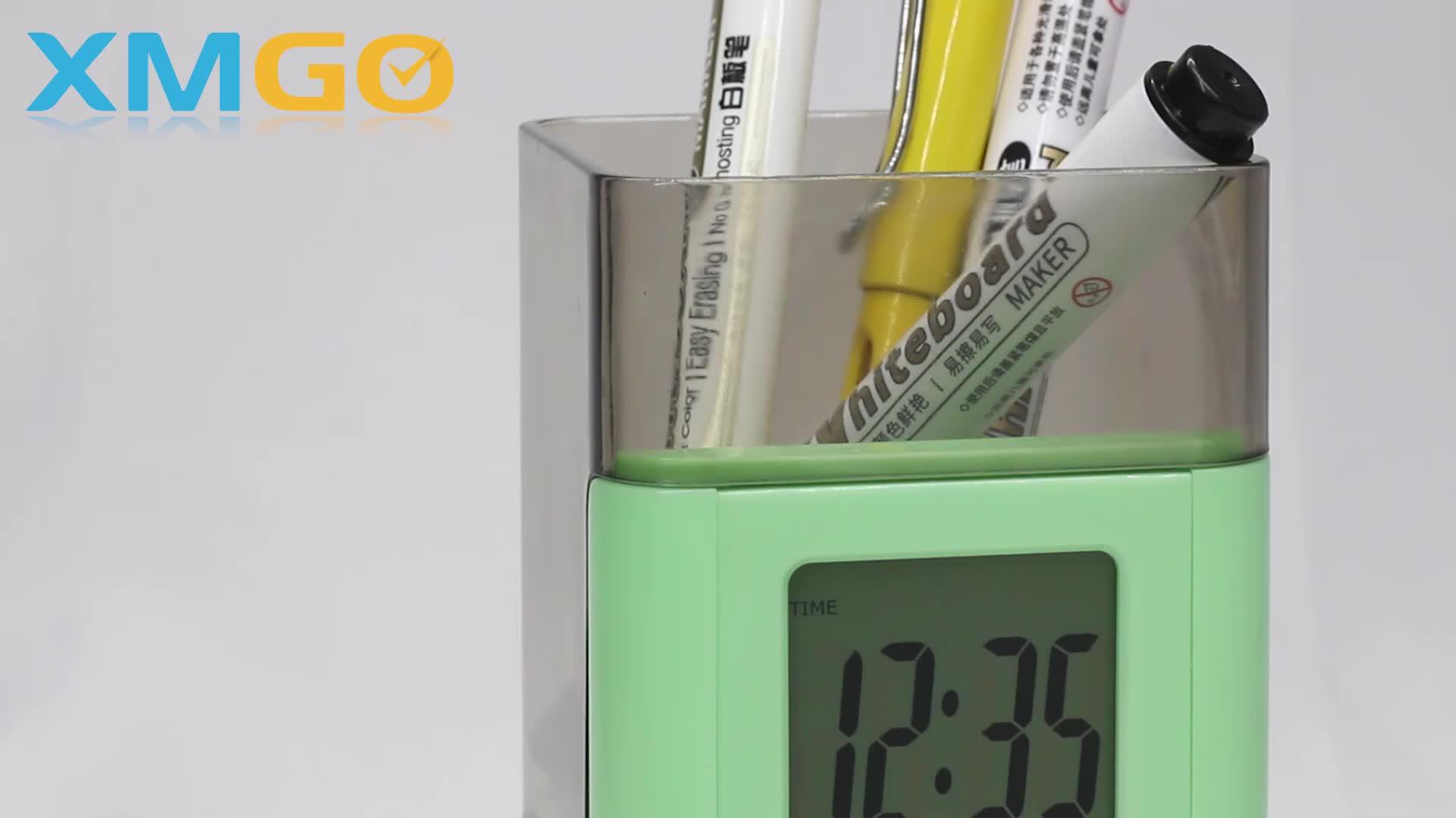 KH-CL122 RE ALTEZZA Tavolo Ufficio Penna Titolare LCD Orologio Calendario Digitale
