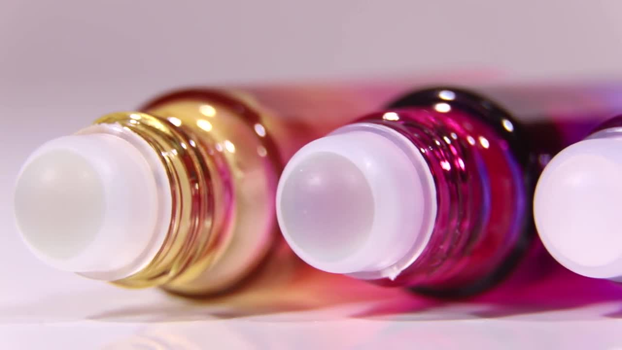 5ml rainbow colored matte frosted glass roll on perfume essential oil bottle